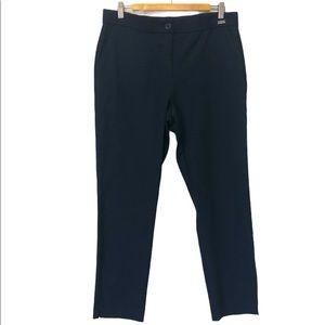 Badgley Mischka Navy Tailored Career Pants, 12